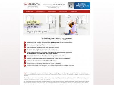Refonte du site Aquifinance Navigation sur une page intérieure de contenu